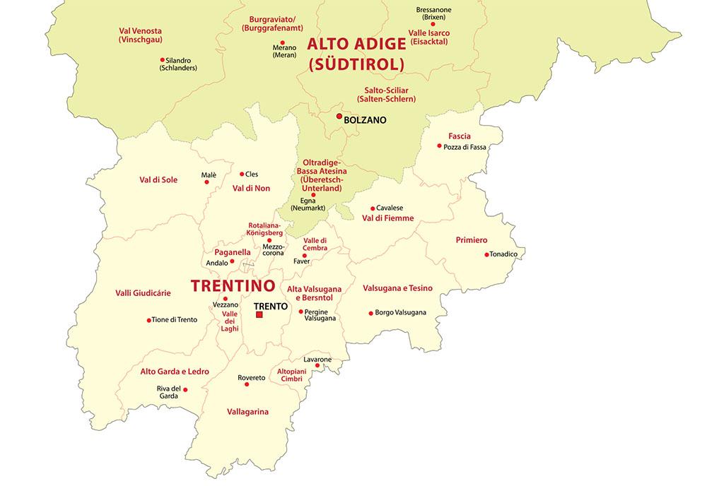 trentino karte Weinland: Trentino   Lust auf Italien   Reise und GenussLust auf