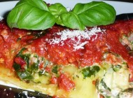 Cannelloni mit Spinat-Mascarpone und Gorgonzola
