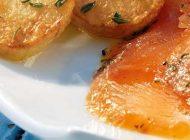 Gebeizter Saibling mit Kartoffeln