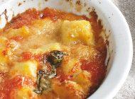 Gebackene Gnocchi mit Tomatensauce und Büffelmozzarella