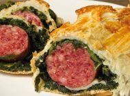 Cotechino con spinaci in crosta